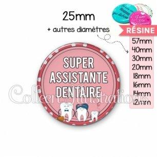 Cabochon en résine epoxy Assistante dentaire (012ROS01)