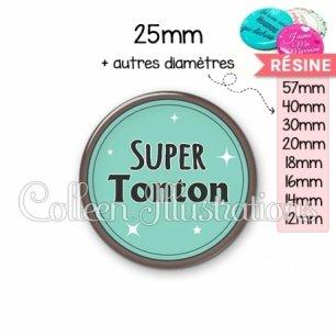 Cabochon en résine epoxy Super tonton (012VER01)