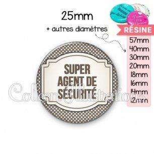 Cabochon en résine epoxy Super agent de sécurité (013GRI01)