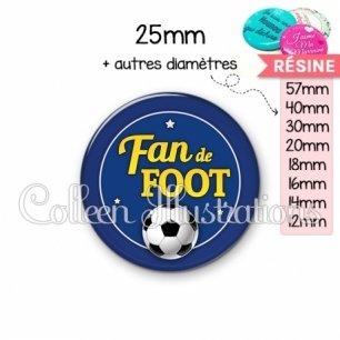 Cabochon en résine epoxy Fan de foot (016BLE04)