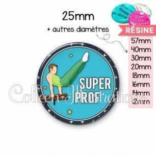 Cabochon en résine epoxy Super prof (016BLE05)