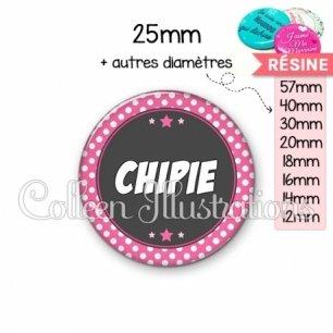 Cabochon en résine epoxy Chipie (016ROS01)