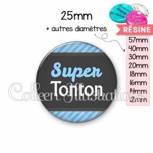 Cabochon en résine epoxy Super tonton (019BLE05)