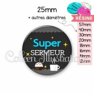 Cabochon en résine epoxy Super serveur (019GRI03)