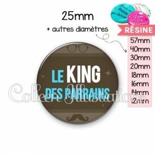 Cabochon en résine epoxy Le king des parrains (019MAR01)