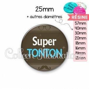 Cabochon en résine epoxy Super tonton (019MAR01)