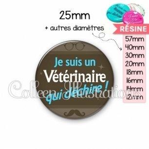 Cabochon en résine epoxy Vétérinaire qui déchire (019MAR01)