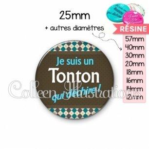 Cabochon en résine epoxy Tonton qui déchire (019MUL01)