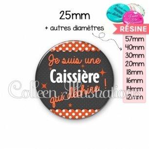 Cabochon en résine epoxy Caissière qui déchire (019ORA01)