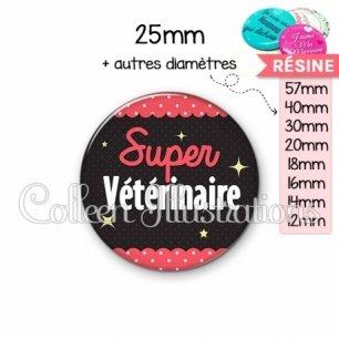 Cabochon en résine epoxy Super vétérinaire (019ROS05)
