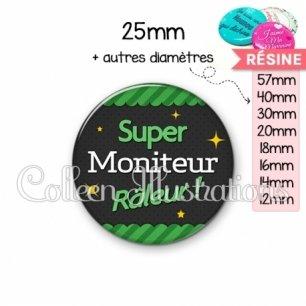 Cabochon en résine epoxy Moniteur super râleur (019VER02)