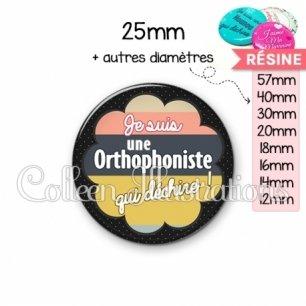 Cabochon en résine epoxy Orthophoniste qui déchire (020NOI08)