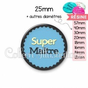 Cabochon en résine epoxy Super maître (024BLE01)