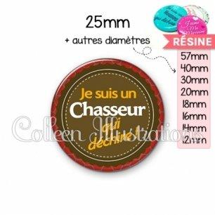 Cabochon en résine epoxy Chasseur qui déchire (024MAR01)