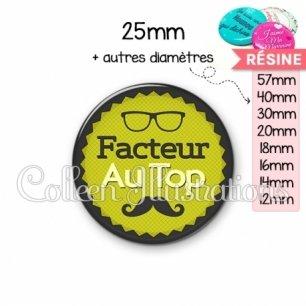 Cabochon en résine epoxy Facteur au top (024VER01)