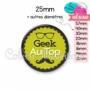 Cabochon en résine epoxy Geek au top (024VER01)