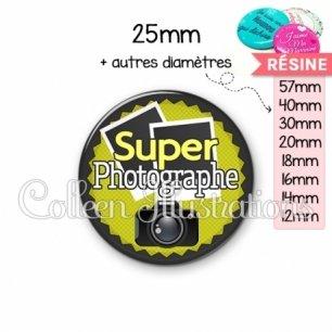 Cabochon en résine epoxy Super photographe (024VER03)