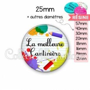 Cabochon en résine epoxy Meilleure cantinière (026MUL01)