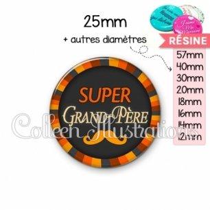Cabochon en résine epoxy Super grand-père (027ORA01)