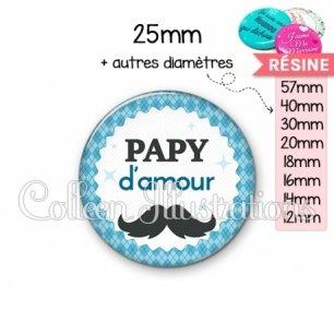 Cabochon en résine epoxy Papy d'amour (028BLE06)