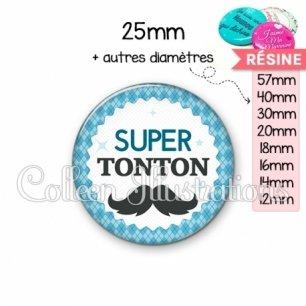 Cabochon en résine epoxy Super tonton (028BLE06)