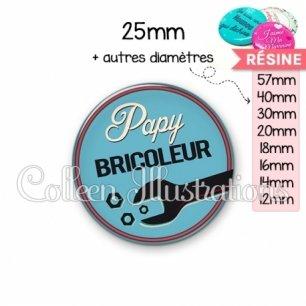 Cabochon en résine epoxy Papy bricoleur (032BLE02)
