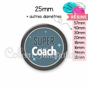 Cabochon en résine epoxy Super coach (034BLE01)