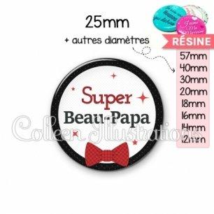 Cabochon en résine epoxy Super beau-papa (036NOI01)