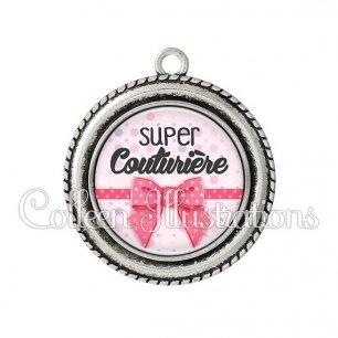 Pendentif résine Super couturière (029ROS01)