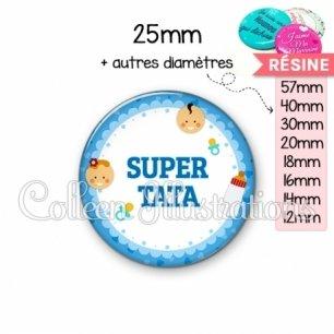 Cabochon en résine epoxy Super tata (044BLE02)