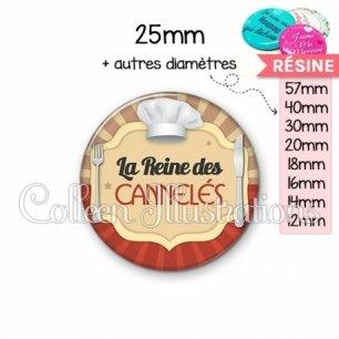 Cabochon en résine epoxy La reine des cannelés (048MAR01)