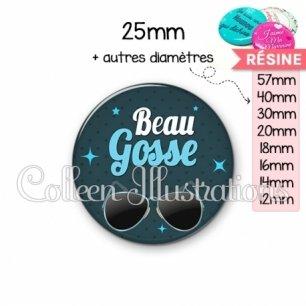 Cabochon en résine epoxy Beau gosse (053BLE01)
