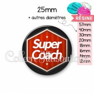 Cabochon en résine epoxy Super coach (055ROU01)