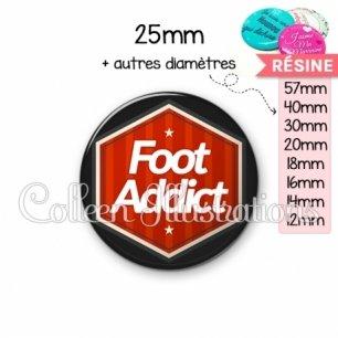 Cabochon en résine epoxy Foot addict (055ROU01)
