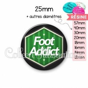 Cabochon en résine epoxy Foot addict (055VER02)