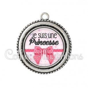 Pendentif résine Je suis une princesse (029ROS01)