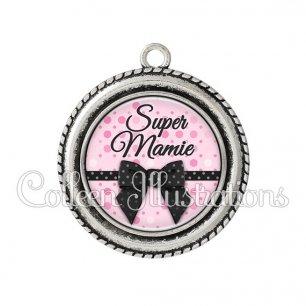 Pendentif résine Super mamie (029ROS02)