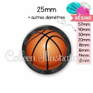 Cabochon en résine epoxy Basket (062GRI01)