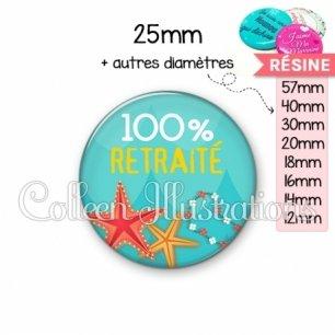 Cabochon en résine epoxy 100% retraité (069BLE01)