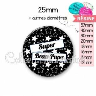 Cabochon en résine epoxy Super beau-papa (077NOI01)