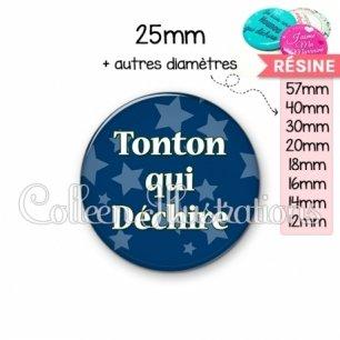 Cabochon en résine epoxy Tonton qui déchire (078BLE02)