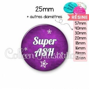 Cabochon en résine epoxy Super ASH (079VIO01)