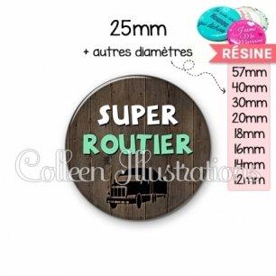 Cabochon en résine epoxy Super routier (086MAR01)