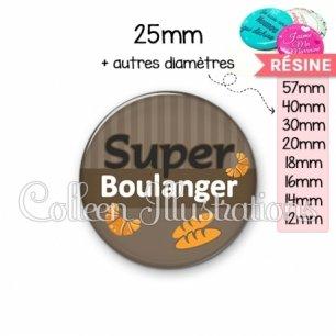 Cabochon en résine epoxy Super boulanger (132MAR01)