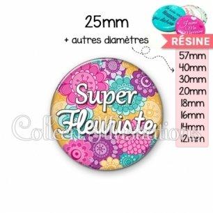 Cabochon en résine epoxy Super fleuriste (140MUL01)