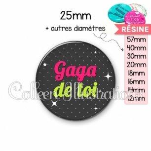 Cabochon en résine epoxy Gaga de toi (157GRI02)