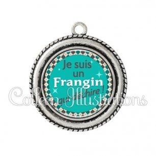 Pendentif résine Frangin qui déchire (030VER01)