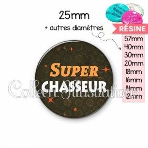 Cabochon en résine epoxy Super chasseur (163MAR01)