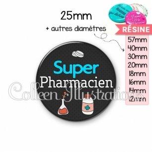 Cabochon en résine epoxy Super pharmacien (166GRI01)