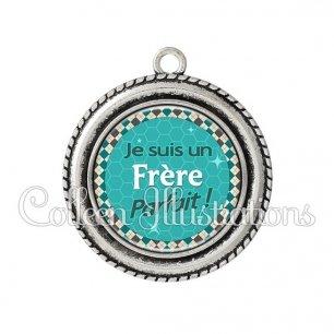 Pendentif résine Frère parfait (030VER01)